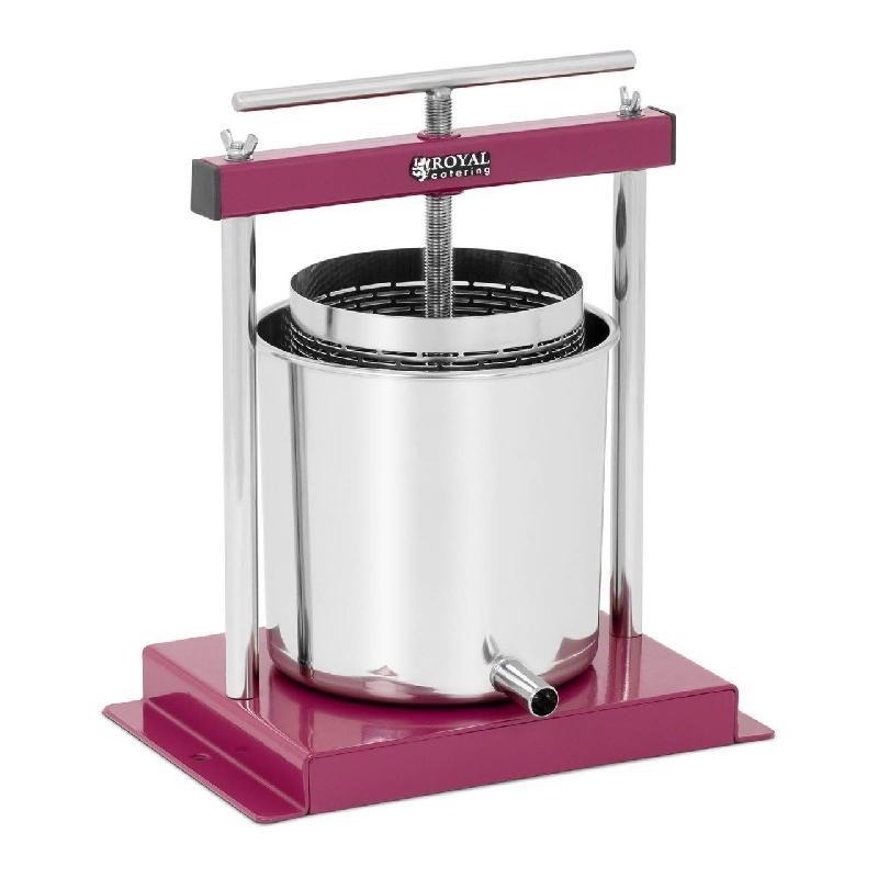 Pressoir de table hydraulique extracteur de jus mécanique à vis inox presse à fruit pomme jus vin raisin cidre 4,5 litres 14_0000318