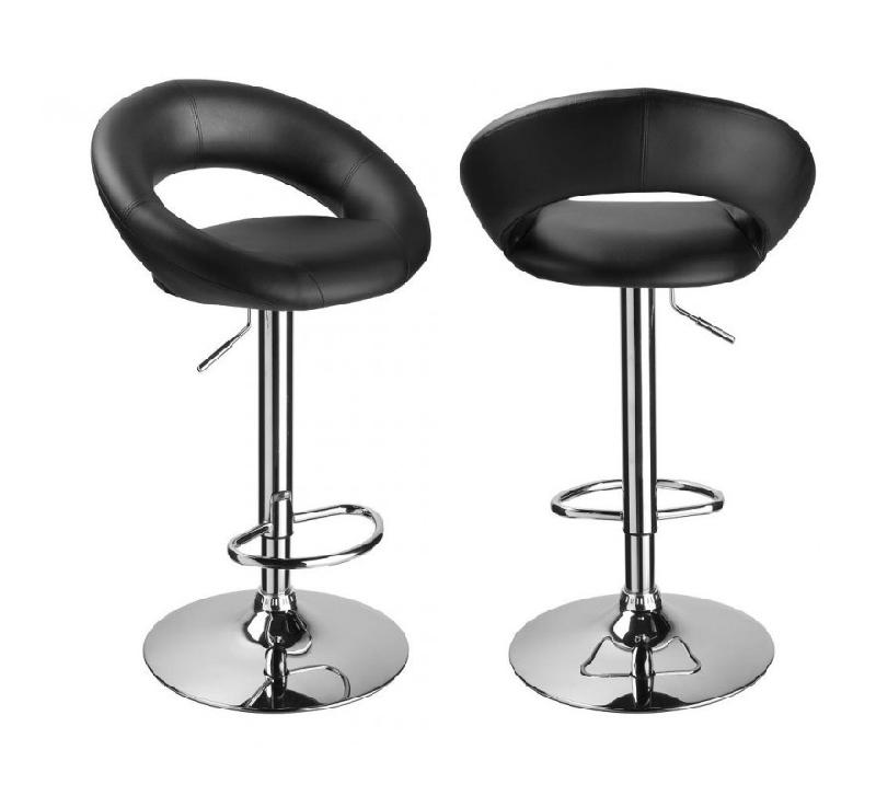 tabouret cuisine avec dossier songmics 2 x tabourets de. Black Bedroom Furniture Sets. Home Design Ideas