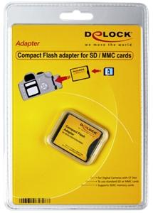 DELOCK COMPACT FLASH ADAPTER F. SD, SDHC, SDXC KARTEN (61796)
