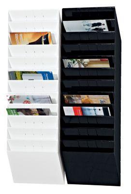 durable distributeurs muraux de prospectus 12 x format a4 horizontal noir comparer les prix. Black Bedroom Furniture Sets. Home Design Ideas