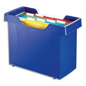 leitz bac pour dossiers suspendus decoflex plus polystyrene choc bleu livre avec 8 dossiers. Black Bedroom Furniture Sets. Home Design Ideas
