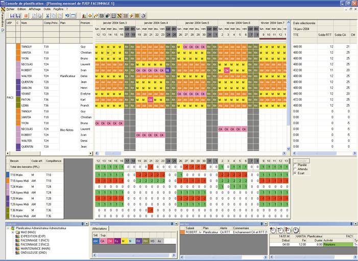 Agiletime planification rh et gta for Logiciel plannification