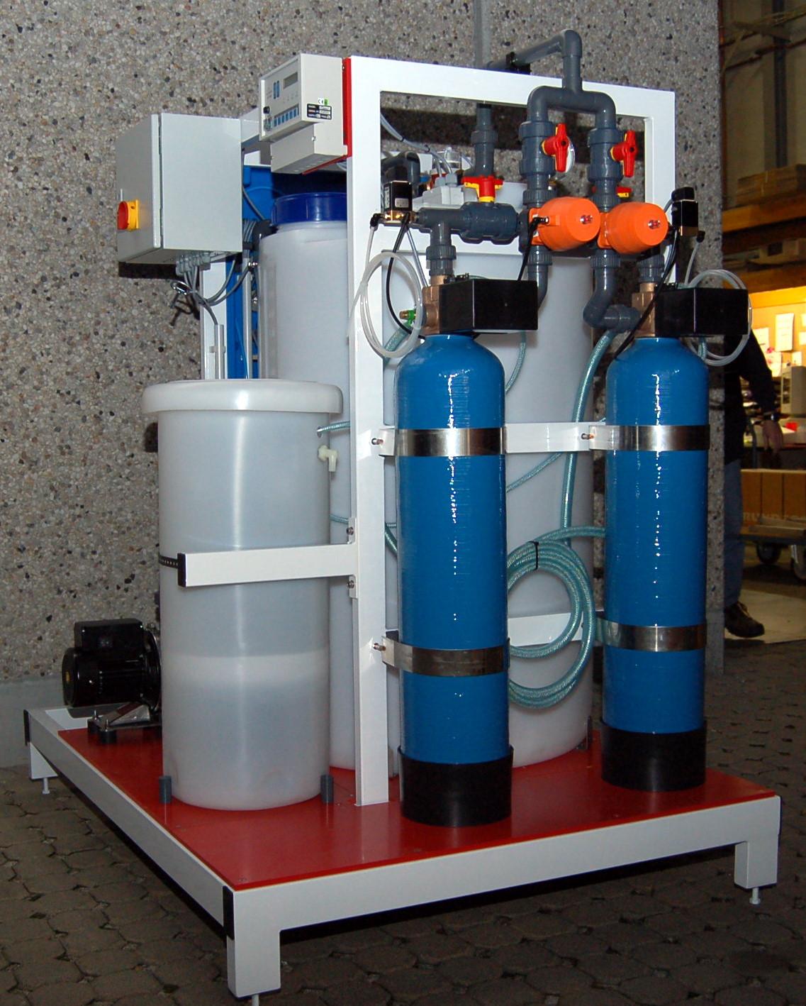 Adoucisseur d'eau industriel