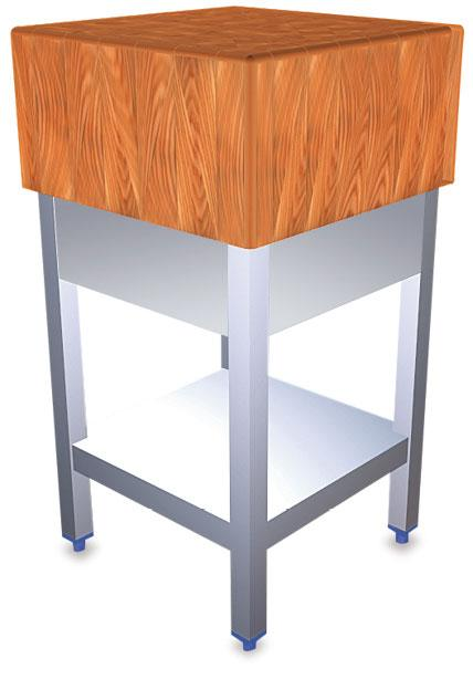 Billot de boucher inox et bois de bouleau comparer les prix de billot de boucher inox et bois de - Billot de boucher inox ...