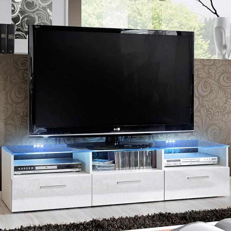Meuble Tv Design Fresh 150cm Blanc Paris Prix