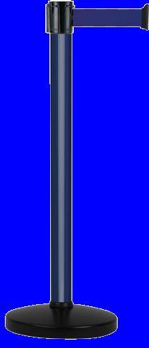 Poteau Alu Bleu laqué à sangle Bleu 4m x 50mm sur socle portable - 2052276