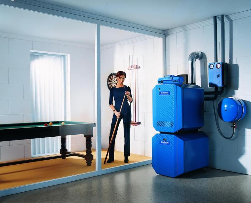 chaudi re gaz au sol logano g134. Black Bedroom Furniture Sets. Home Design Ideas
