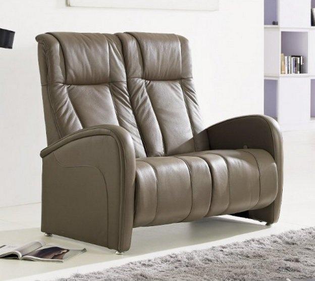 desire canape relax cuir vachette marron cendre. Black Bedroom Furniture Sets. Home Design Ideas