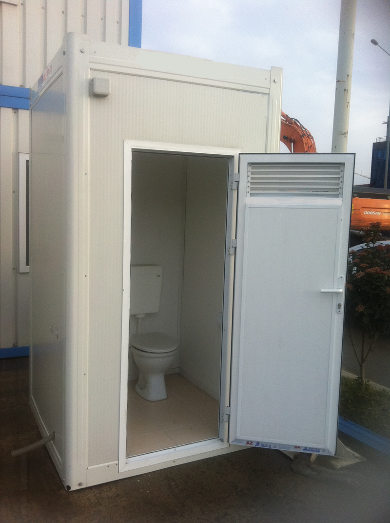 Mobileklyn bloc sanitaire chantier raccordable isol e for Cabine wc exterieur