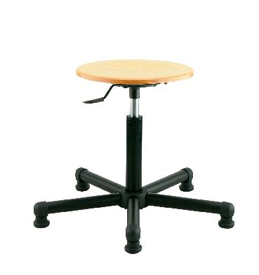 tabouret rond bois patins base en nylon comparer les prix de tabouret rond bois patins base en. Black Bedroom Furniture Sets. Home Design Ideas