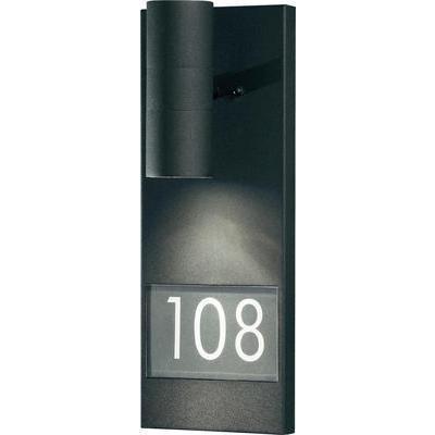 Applique murale d 39 exterieur modena number big gu10 noir for Applique murale exterieur noir
