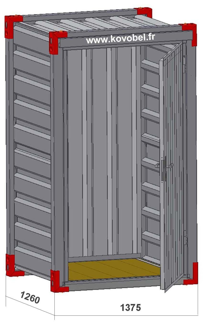 Mini container de stockage diffusion yfa for Devis container