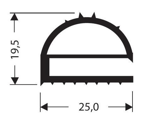 joint pvc plat sans aimant pour meubles frigos jpf 017. Black Bedroom Furniture Sets. Home Design Ideas