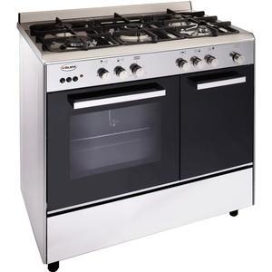 Glem cuisiniere gaz centre de cuisson 90cm butanette catalyse alpha ga9pcgix ga 9 pcgix inox - Gaziniere tout gaz ...