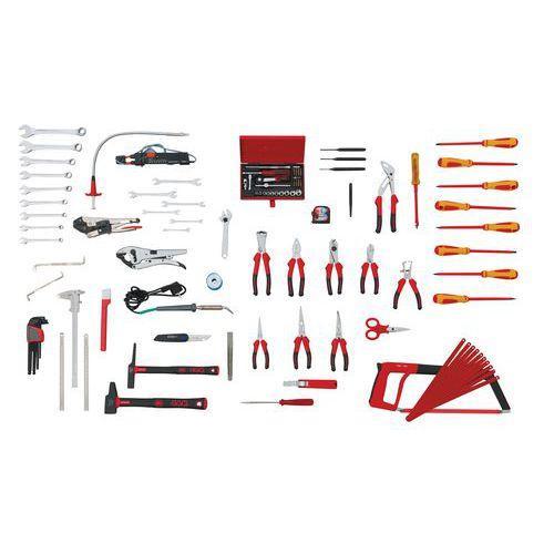 Jeu de 103 outils pour lectricien comparer les prix de - Caisse a outils electricien complete ...