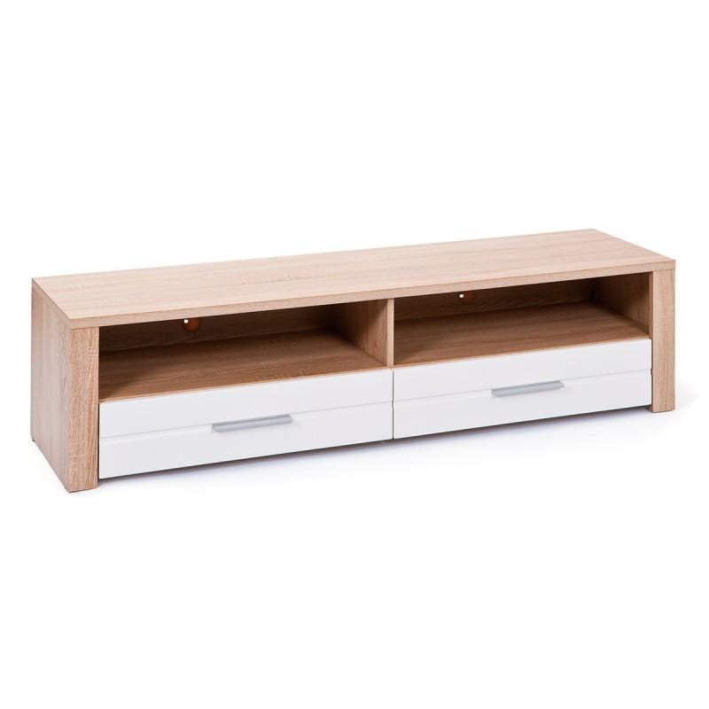 MEUBLE TV 2 TIROIRS SWIFT 150CM BLANC & NATUREL - PARIS PRIX