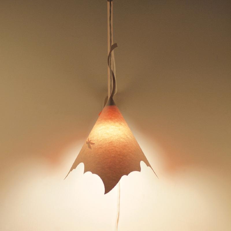 platane suspension papier blanc corail h 58cm. Black Bedroom Furniture Sets. Home Design Ideas
