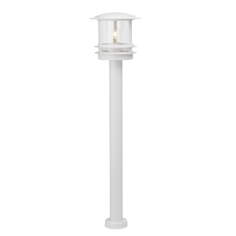 Hollywood borne d 39 ext rieur blanc h98cm luminaire d for Luminaire exterieur blanc