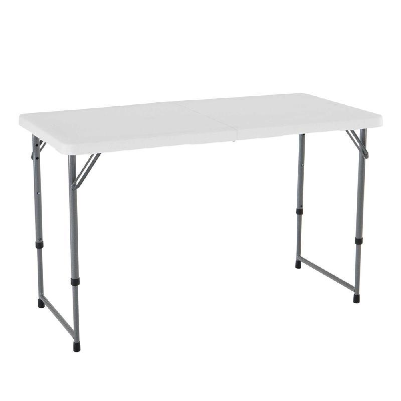 Rectangulaireblanc122cm Pliable 2valiseAjustable Rectangulaireblanc122cm Pliable Table En Table 2valiseAjustable En SUzVqMp