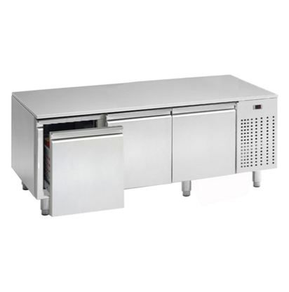 Bacs de refroidissement - soubassement réfrigéré négatif 3 tiroirs bacs gn1/1 prof.700