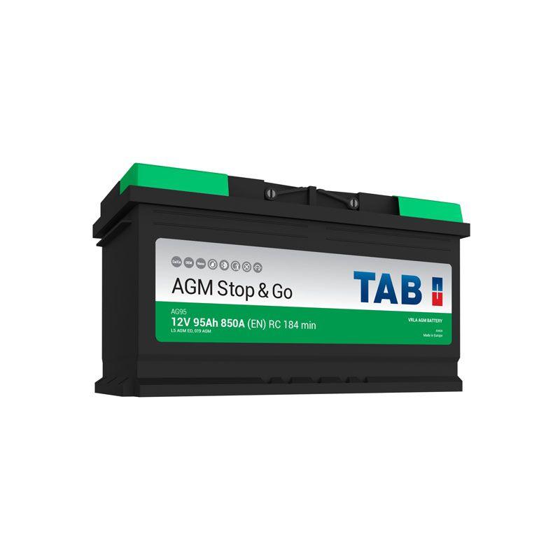 TAB Batterie Voitures Polar S Démarrage S45JAX BJ45G 12 V