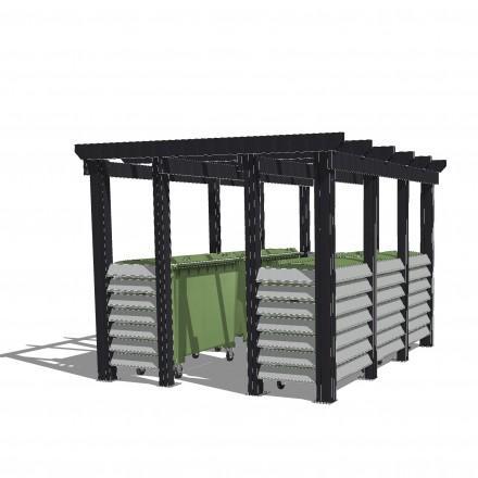 cache conteneurs pour dechets tous les fournisseurs cache conteneur dechet tole cache. Black Bedroom Furniture Sets. Home Design Ideas