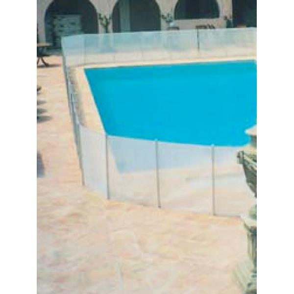 Cl ture piscine souple beethoven filet blanc comparer les for Barriere de piscine demontable