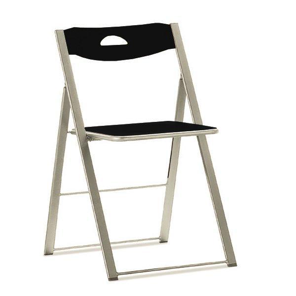 lot de 2 chaises pliantes icon noire. Black Bedroom Furniture Sets. Home Design Ideas