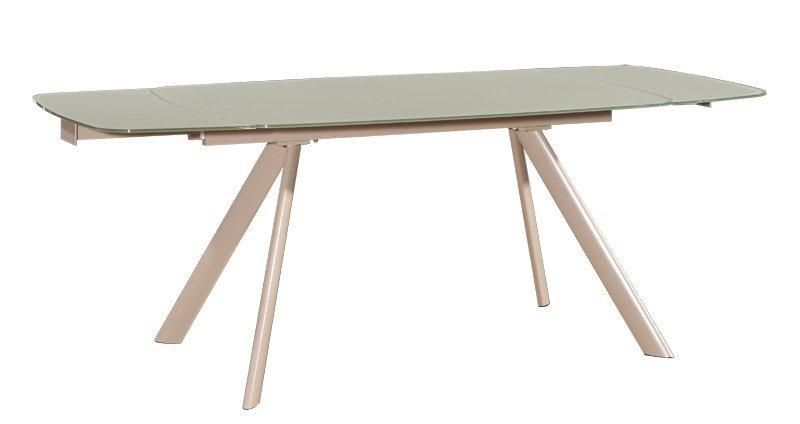 Allegria Table Extensible Taupe Plateau Verre Design
