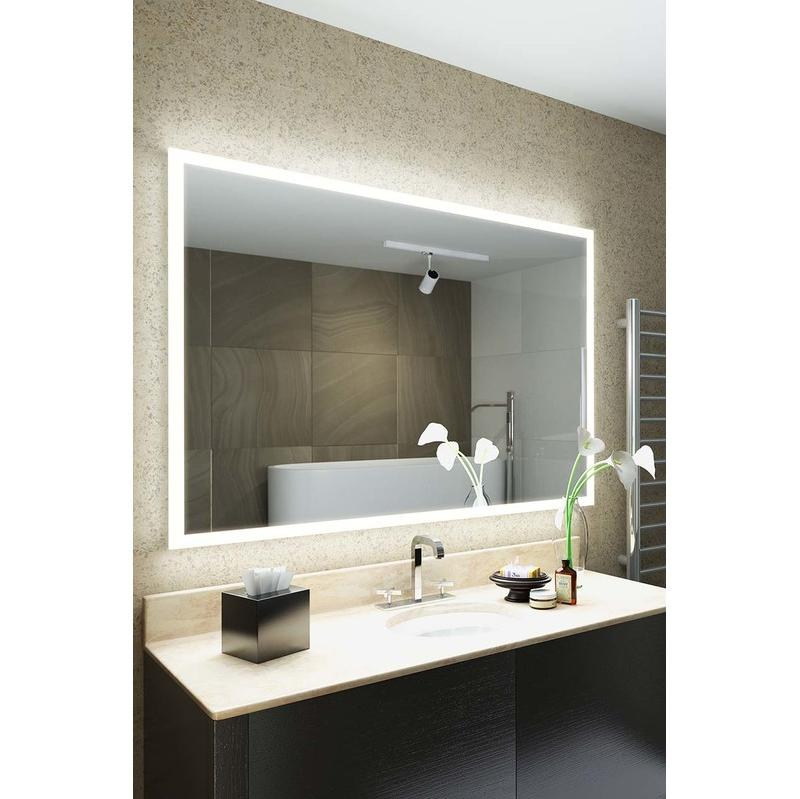 Miroirs de salle de bain diamond x collection achat - Miroir salle de bain lumineux avec prise de courant ...