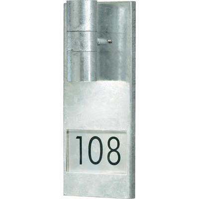Applique murale d 39 exterieur modena number big gu10 acier for Applique murale exterieur gu10