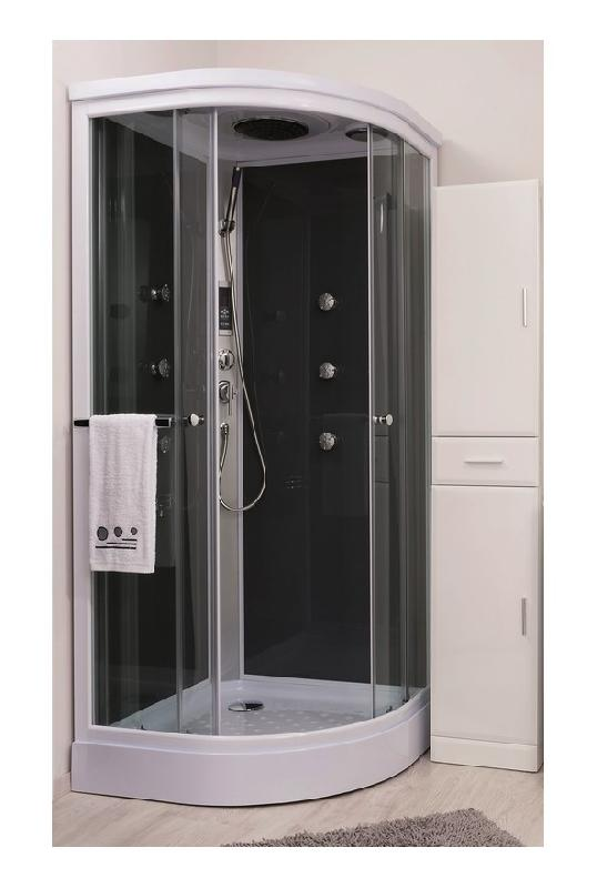 Cabines de douche comparez les prix pour professionnels - Cabine de douche quart de cercle 90x90 ...
