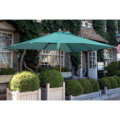 parasol en bois carr 3x3m bois d honfleur turquoise comparer les prix de parasol en bois carr. Black Bedroom Furniture Sets. Home Design Ideas