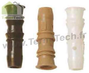 Lot de 100 injecteurs traitement charpente femelles 9,5mm (sans tête) pour traitement du bois