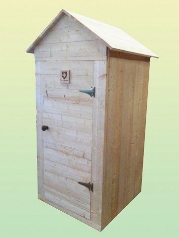 Cabine De Douche Exterieure.Cabine De Toilettes Fond De Jardin