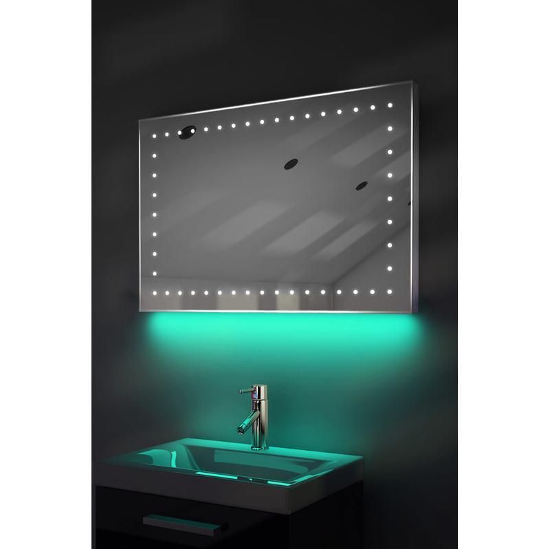miroir de toilette et rasage led lumi re d 39 ambiance anti bu e capteur k165t couleur led. Black Bedroom Furniture Sets. Home Design Ideas