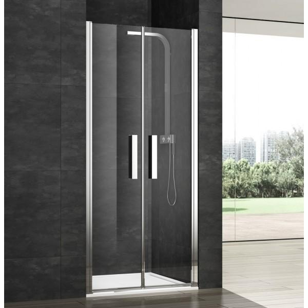 Porte de douche 2 battants ouverture int ext 39 vera for Porte de douche 110 cm