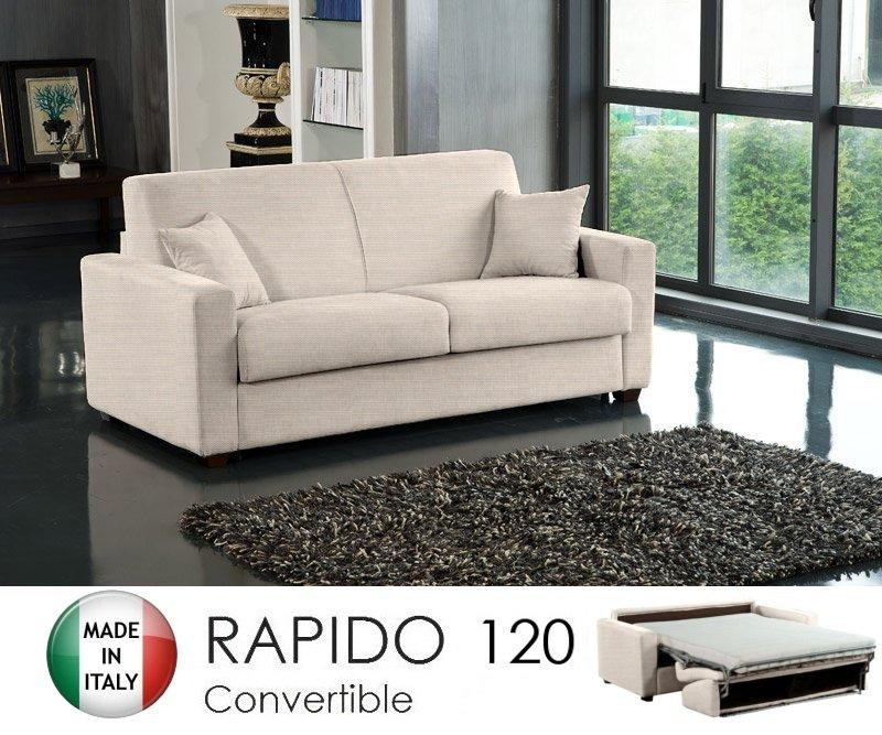 Canape ouverture rapido 2 3 places dreamer convertible lit 120 190 14 couchag - Canape convertible couchage 120 ...