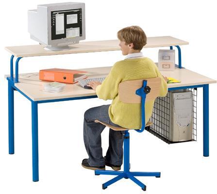 la table informatique mimizan hauteur 64 cm t4 120 x 90 cm pietement turquoise. Black Bedroom Furniture Sets. Home Design Ideas