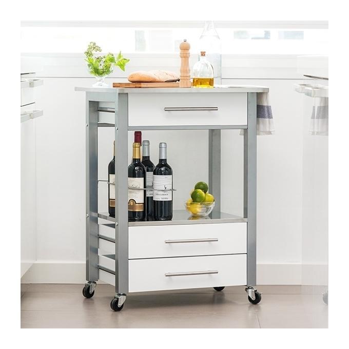 Table de cuisine avec tiroir meuble de cuisine bas 2 for Tiroir inox cuisine