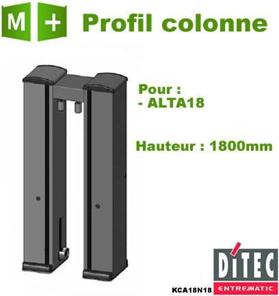Profil aluminium colonne alta18 ditec kca18n18 - Colonne aluminium prix ...