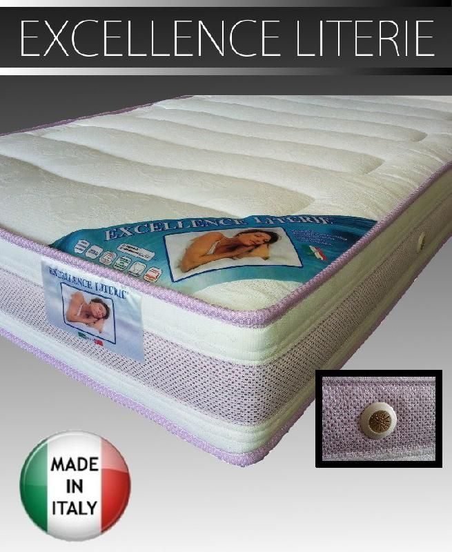 matelas 140 190 excellence literie paisseur 20 cm. Black Bedroom Furniture Sets. Home Design Ideas