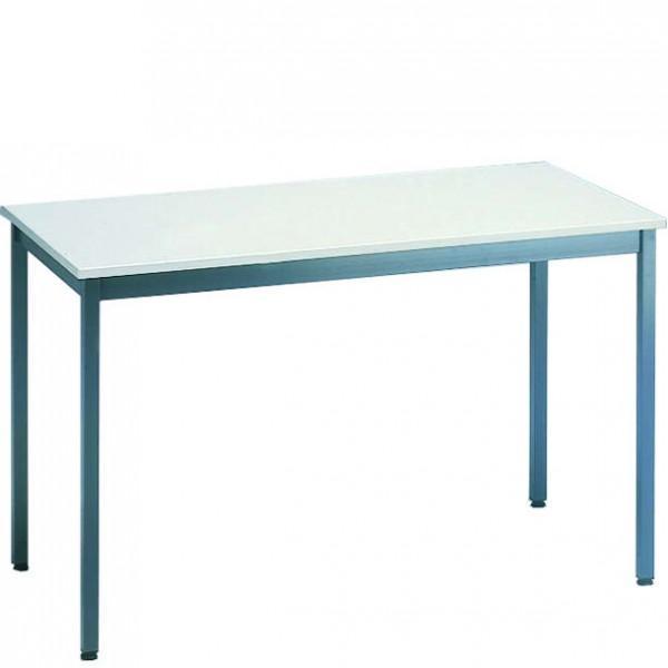 table polyvalente plateau melamine gris clair. Black Bedroom Furniture Sets. Home Design Ideas