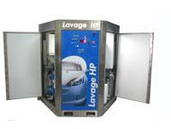 Armoire de lavage haute pression concept'eau   1 piste - lavage de véhicules, vélomoteurs, motos et véhicules commerciaux - aire de lavage très étroite - gamme complète d'accessoires