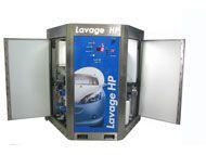 Armoire de lavage haute pression concept'eau | 1 piste - lavage de véhicules, vélomoteurs, motos et véhicules commerciaux - aire de lavage très étroite - gamme complète d'accessoires