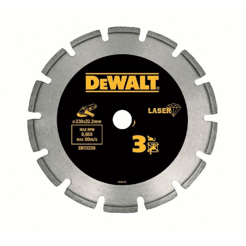 Dewalt dt3761-xj disque laser pour béton dur/granités 125x22.2mm, hauteur segment 7.5mm 22.2