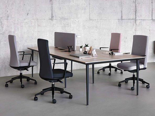 Bureau bench 4 personnes design pur comparer les prix de for Bureau 4 personnes