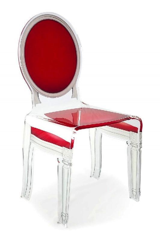 sixteen chaise acrila en plexi rouge. Black Bedroom Furniture Sets. Home Design Ideas