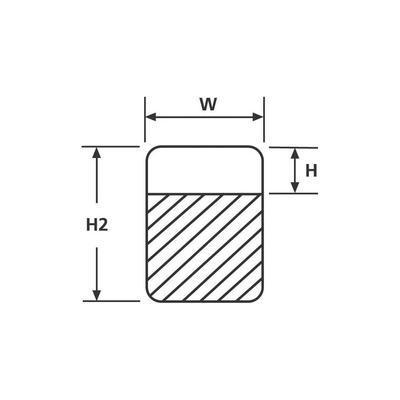 ETIQUETTE RITEON HELLERMANNTYTON RO201REF-100-WH 550-14014 12.70 X 12.70 MM