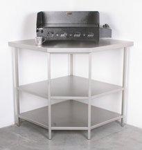 meuble de cuisine : ext. ouvert inox d'angle - Meuble De Cuisine D Angle